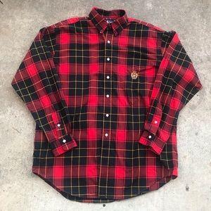 Vintage Ralph Lauren Crest Plaid Button Up